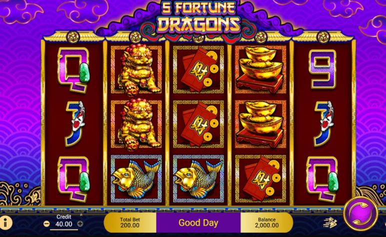 Cach choi game 5 Fortune Dragons online