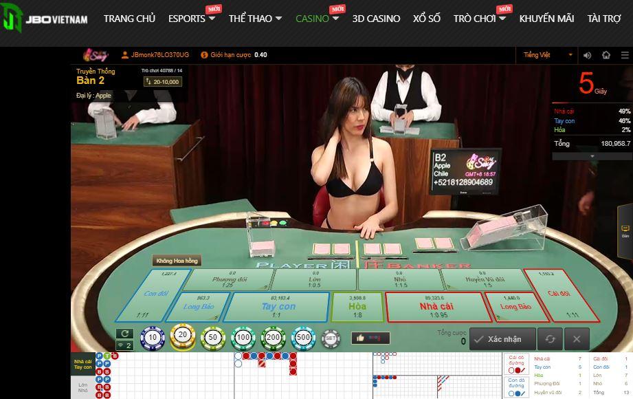 Sieu thuong Casino Sexy tai Jbo